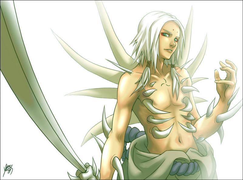 À qui Orochimaru a-t-il donné la marque maudite de la terre ?