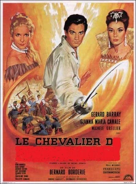 En 1962, qui Gérard Barray incarne-t-il dans un film de Bernard Borderie, avec également l'actrice Michèle Grellier dans le rôle d'Isabelle ?