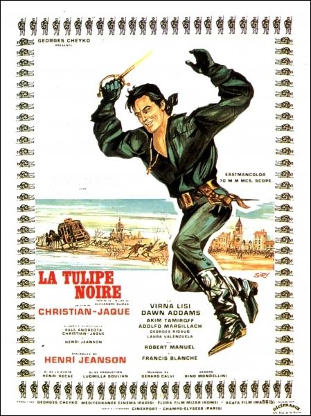 En 1963, qui est La Tulipe noire dans ce film de Christian-Jaque ?