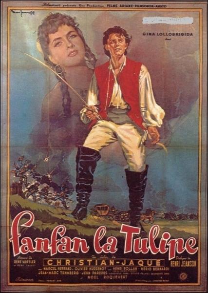 En 1951, qui incarne Fanfan la Tulipe dans ce film réalisé par Christian-Jaque avec également Gina Lollobrigida au casting ?