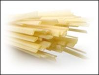 Ces pâtes sont en quelque sorte un genre de spaghetti plats. Ce sont ?