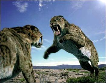Quels animaux parmi ceux-ci sont des animaux préhistoriques totalement disparus aujourd'hui ?