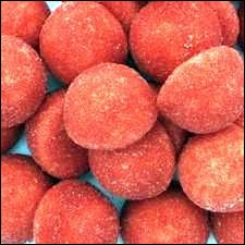 Comment s'appellent les Fraises rouges ou roses de la marque HARIBO ?