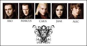 De quel clan font partie Alec, Caïus, Aro, Marcus et Jane ?