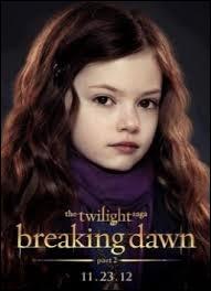 Comment s'appelle la fille de Bella et Edward ?