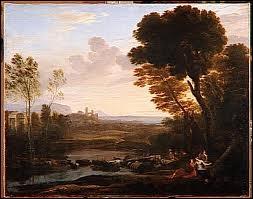 Quel peintre est l'auteur de ce  Paysage avec Pâris et Oenone , sa première femme qui avait la faculté de lire l'avenir ?