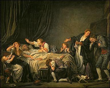 Quel peintre est l'auteur de scènes de genre à visée morale comme  Le fils puni  ?