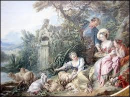 Quel peintre est l'auteur de scènes pastorales comme  Le nid  dit aussi  Le présent du berger  ?