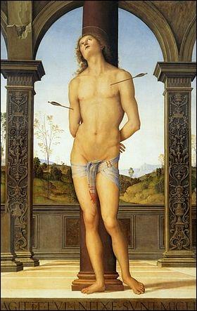 Quel peintre a représenté le martyr de   Saint Sébastien  ?