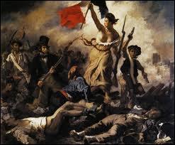 Quel peintre a réalisé quelques mois après les Trois Glorieuses le tableau  La liberté guidant le peuple  ?