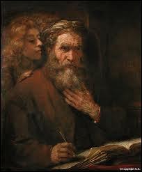 Quel peintre a représenté un ange dictant le texte de son évangile à saint Matthieu ?