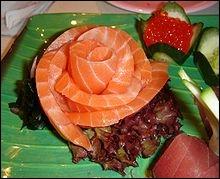 On vous apporte un sashimi où êtes-vous ?