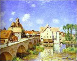 Qui a peint ce tableau ? (Titre : Le pont de Moret)