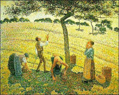Qui a peint cette toile ? (Titre : La cueillette des pommes, Eragny-sur-Epte)