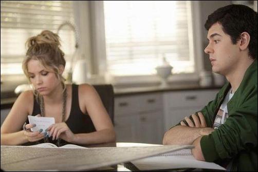 Au cours d'un épisode de la saison 2, Hanna organise une fête d'anniversaire pour Caleb. Durant cet anniversaire, elle et Lucas s'isolent. Que font-ils ?