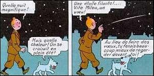 Quelle constellation Tintin va ensuite observer ?