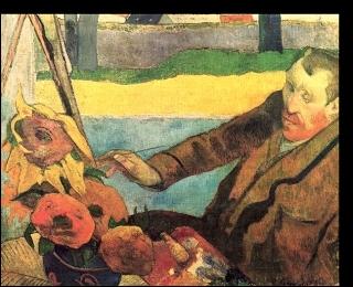 C'est la main de  Van Gogh peignant les tournesols , mais qui réalisa le tableau présenté ci-contre ?