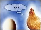Répondez humoristiquement par une boutade à ce paradoxe bien connu « Qu'est-ce qui est apparu en premier : l'oeuf ou la poule ? »
