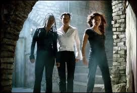 Dans  Scary Movie 2 , quand Cindy, Brenda et Alex descendent les escaliers, de quel film est-ce une parodie ?