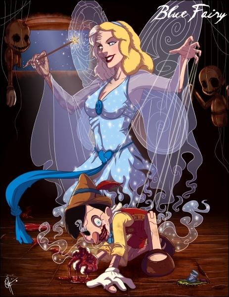 Cette fée est censée donner la vie à Pinocchio, l'image ne vous donnera pas la réponse !