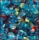 Nous sommes bleus et nous sommes délicieux en bonbons. Qui sommes-nous ?