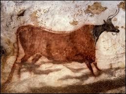 Histoire et vocabulaire : voici une des peintures rupestres découvertes en 1940 dans la grotte de Lascaux. Comment peut-on qualifier l'ensemble de ces représentations artistiques du Paléolithique ?
