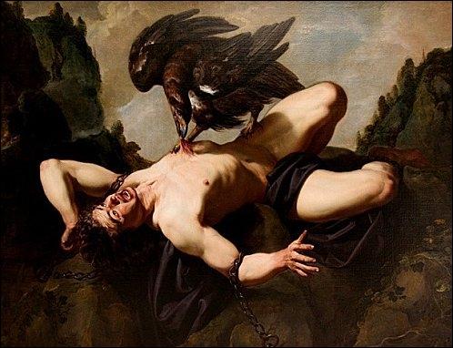 Dans la mythologie grecque, Prométhée a un frère, Épiméthée, dont le nom signifie  l'Étourdi . Que signifie le nom de Prométhée ?