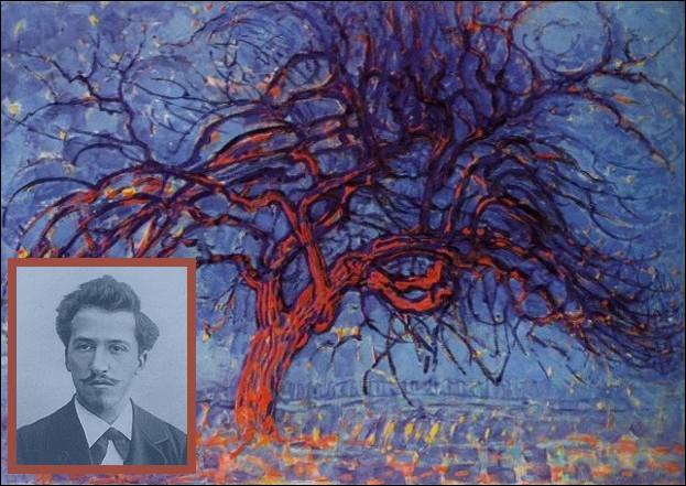 Piet Mondrian, pionnier de l'abstraction, exécute en 1909 cette toile intitulée  L'arbre rouge . Quelle était sa nationalité ?