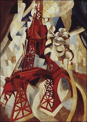 A vingt cinq ans, cet artiste ose démonter la tour Eiffel dans l'une de ses multiples toiles sur un de ses thèmes favoris... .