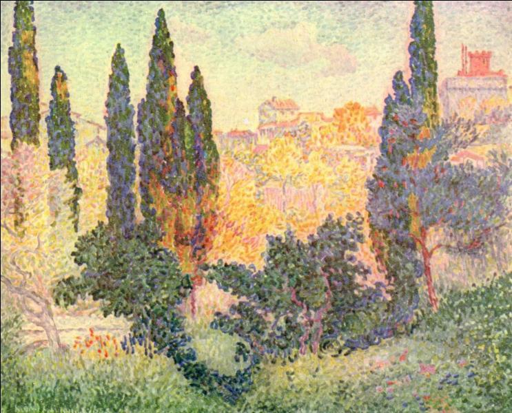 Certains noms prédisposent à la peinture. C'est cas de Henri-Edmond Cross qui meurt en mai 1910 au Lavandou et dont le nom d'état-civil était celui d'un célèbre peintre romantique du début du XIXéme .....