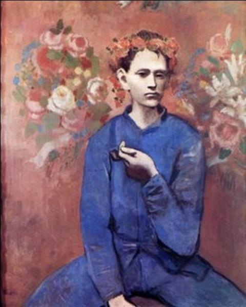 Toujours en 1905, Pablo Picasso à Paris passe des ténèbres bleutées et mélancoliques à sa période dite  Rose  avec ce tableau intitulé ... .