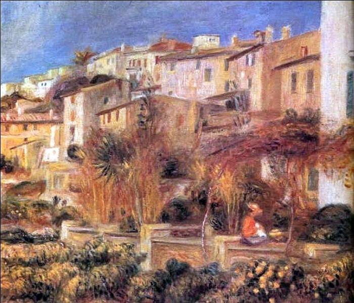 Afin de soulager ses rhumatismes, sur le conseil de ses médecins, dans quelle cité de la Côte d'azur Auguste Renoir s'installe-t-il définitivement en 1907 ?