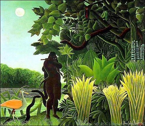Quel est le titre de cette vision onirique du Douanier Rousseau, tableau exposé au 5ème Salon d'Automne en octobre 1907 ?