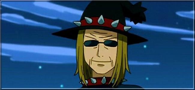 (Épisode 8) Quel est le nom de ce personnage et de quelle guilde est-il le maître ?