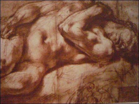 """""""L'Homme mort couché"""" est un dessin à la sanguine foncée rehaussée de craie blanche. Qui en est l'artiste, cadet d'une famille de trois artistes (1557-1602) ?"""