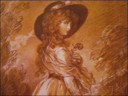 XVIIIe siècle anglais. Étude de femme, supposée être pour le tableau ... par ... . Complétez.