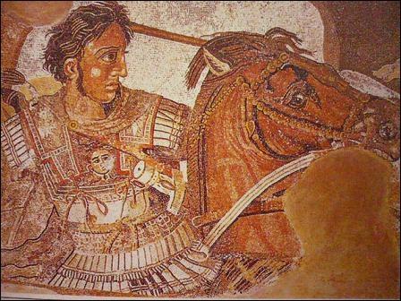 D'inspiration grecque. Cette mosaïque de la bataille d'Alexandre est une copie d'une peinture d'Apelle. Elle fut trouvée dans la maison du Faune. Où cela se trouve-t-il ?