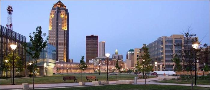 Dans quel État se trouve la ville de Des Moines ?