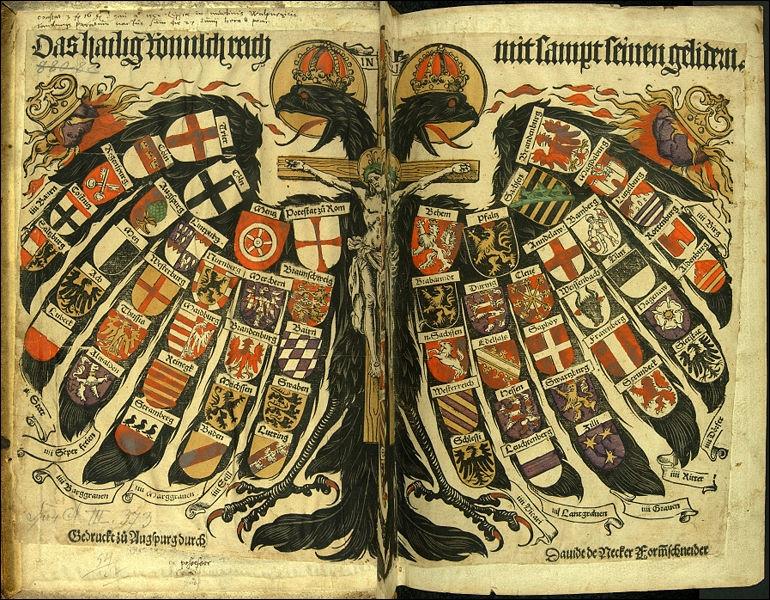 En 1486, l'Empire prend son nom définitif : le Saint-Empire romain de la nation germanique, soit en allemand