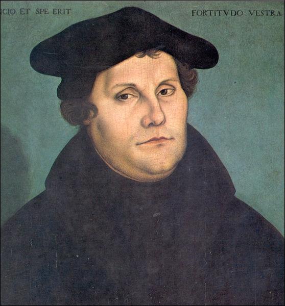 En 1517, ce professeur de l'université de Wittenberg (est de l'Allemagne actuelle) publie 95 thèses qui seront à l'origine du protestantisme. Il s'agit de