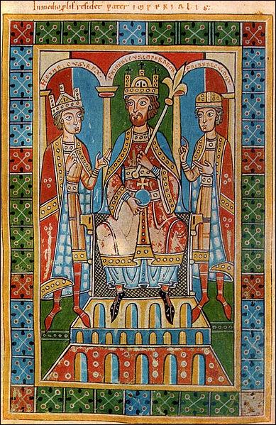 Quel empereur à la barbe aux reflets cuivrés est élu roi de Germanie en 1152 et couronné empereur en 1155 par le pape ?