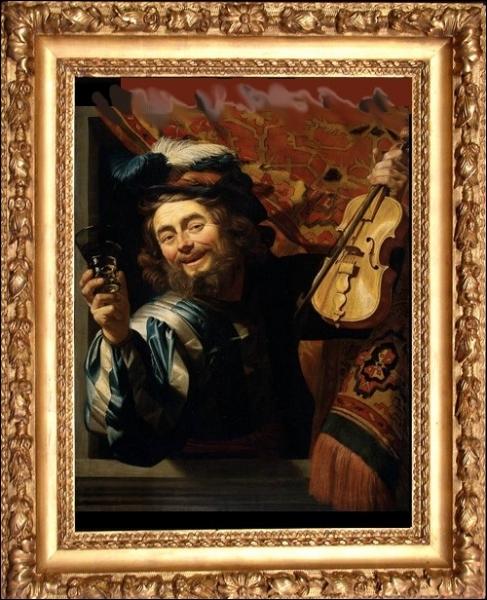 On peut y admirer également ce   Vieux violoniste  , oeuvre d'un peintre évoluant dans le classicisme ... .