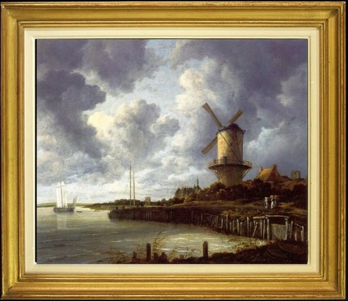 Peintre de paysages néerlandais, il est l'auteur de ce tableau intitulé  Le Moulin à vent à Wijk bij Duurstede   exécuté vers 1670... .