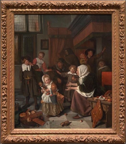 Qui a peint ce tableau intitulé  La fête de Saint-Nicolas  vers 1663 ?