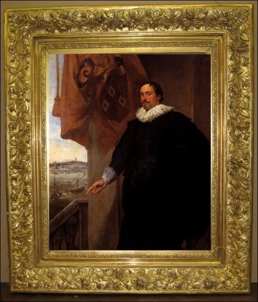 Quel peintre baroque hollandais a réalisé ce   Portrait de Nicolaes van der Borght   en 1620 ?