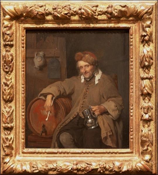 A quel peintre néerlandais du XVIIe sciècle, devons-nous cette toile intitulée  Le vieux buveur  ?