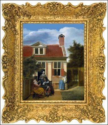 Autre  Vieux maître hollandais  du baroque présent au Rijksmuseum avec cette peinture dite scène de genre... ...