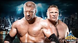 Quelles étaient les deux stipulations du match entre Triple H et Brock Lesnar ?