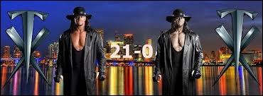 Combien de victoires avait l'Undertaker avant Wrestlemania 29 ?