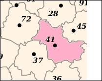 Le département Loir-et-Cher est situé dans la région